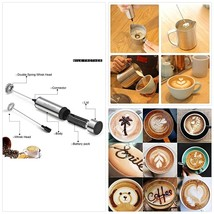 Sedhoom Milk Frother Handheld Double Powerful Electric Foam Maker Beater... - $19.03