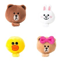 LINE FRIENDS Character Face Doll Hairpin Hair Clip Bobby Pin 4 TYPES - €14,31 EUR