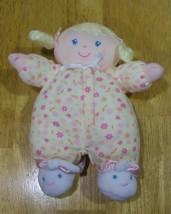 Carter's BLONDE BABY GIRL RATTLE Plush Stuffed Animal - $15.35