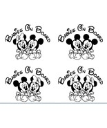 Baby on Board Mickey Minnie Mouse Babies Decal car truck laptop window c... - $3.20