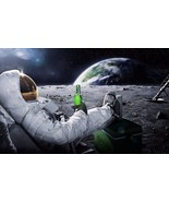 Astronaut on the moon with beer 24 X 36 inch Poster, wall decor, mars, nasa - $18.99