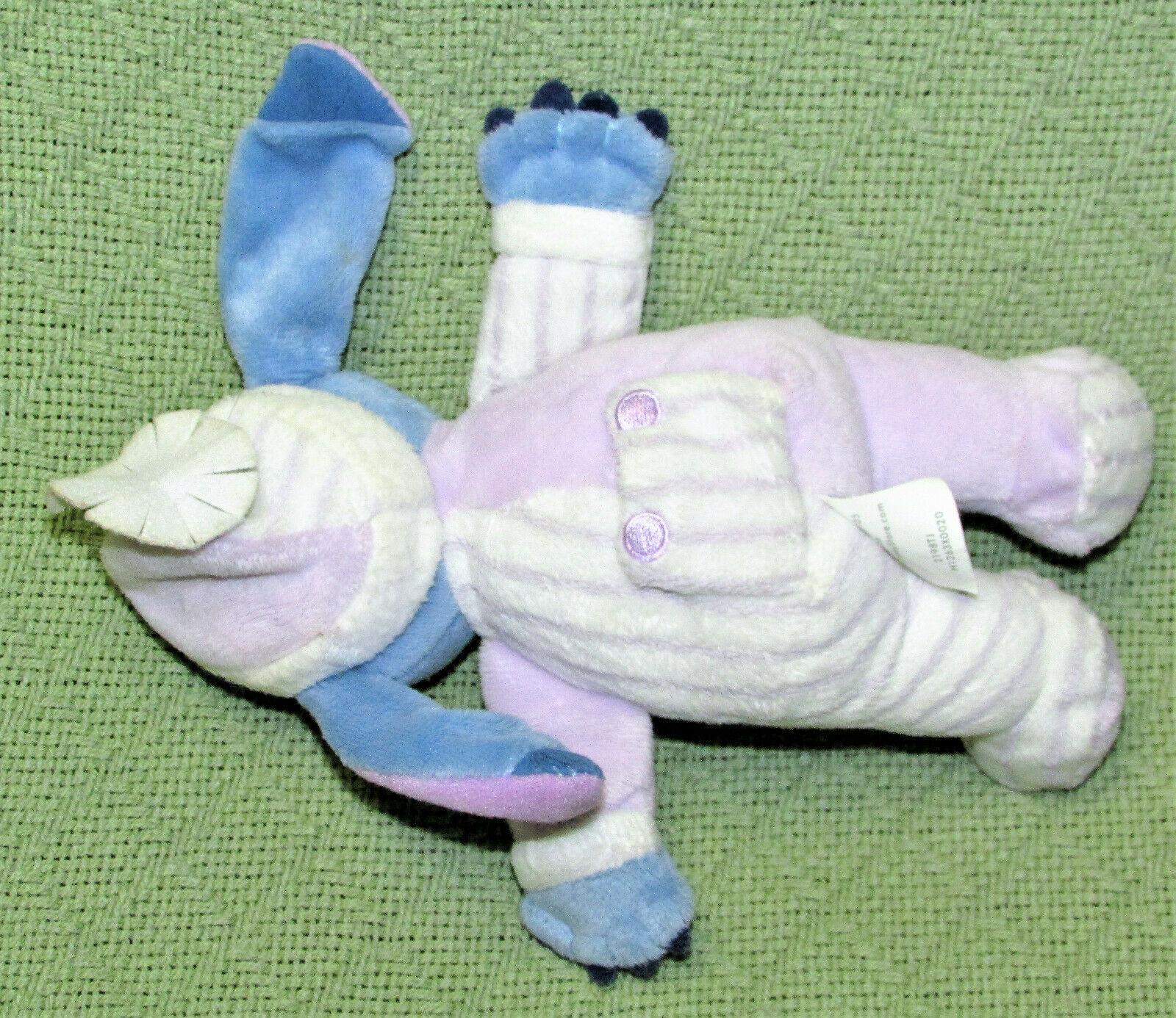 "DISNEY STORE LILO AND STITCH 9"" PLUSH PAJAMA STITCH STUFFED ANIMAL PURPLE PJs  image 4"