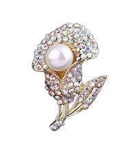2 Pieces Of Retro Brooch Golden Diamond Flower Brooch Clothes Accessories