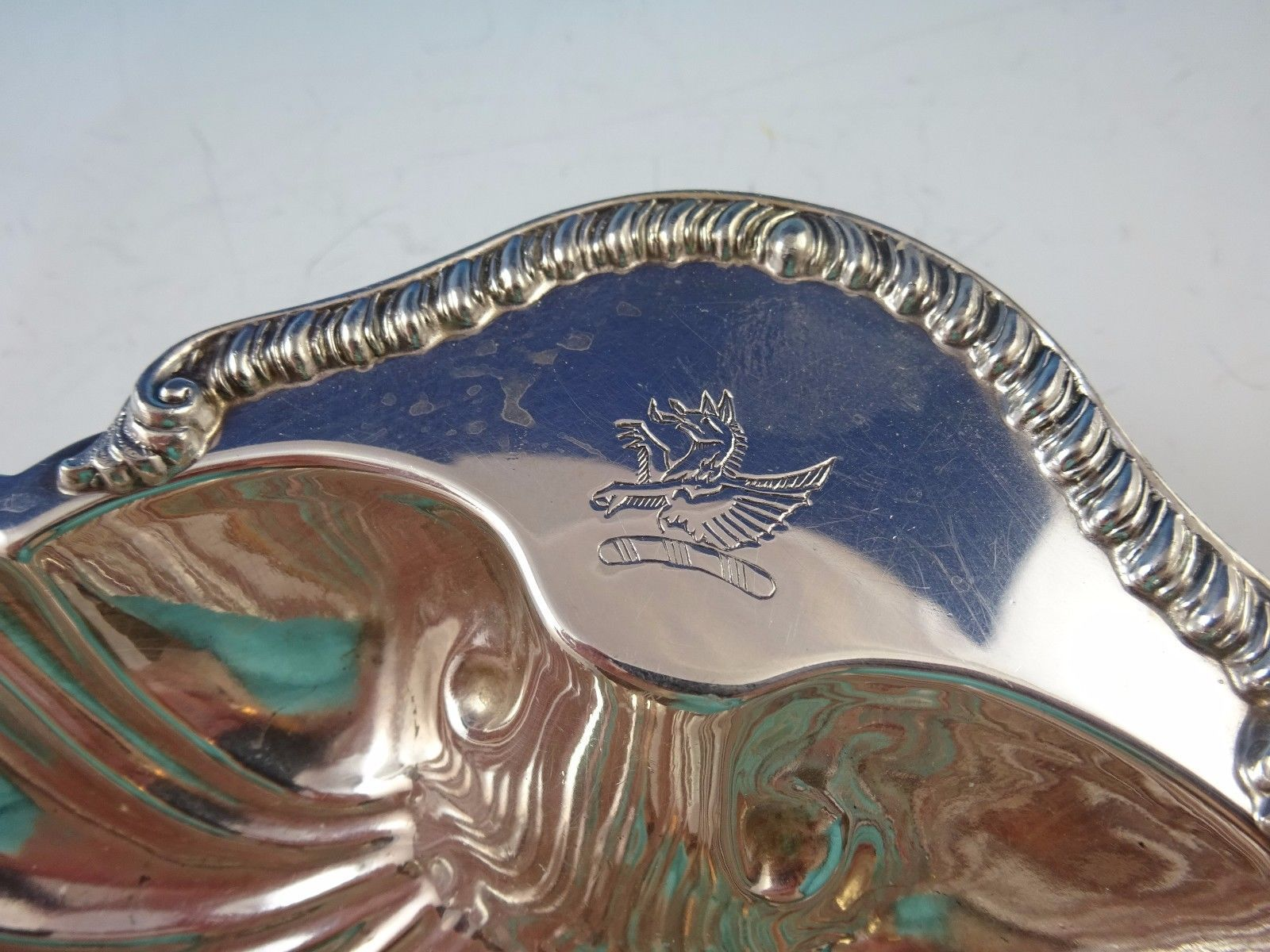 English Silverplate Shell Nut Dish or Candy Bowl