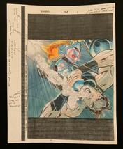 X-MAN Marvel original hand painted color guide art 1998 Nate Grey X-Men 3 Pages! - $27.70