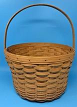 """Longaberger Large Fruit Apple Basket 1991 with Wood Swivel Handle 13"""" 21... - $56.95"""