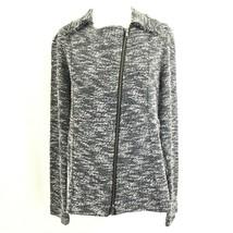 Forever 21 Women's Collared Long Sleeve Slant Zippered Jacket S Black Wh... - $29.69