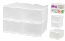 IRIS 17 Quart Stacking Drawer, 4 Pack, White 17-Quart White 4 Pack - £41.37 GBP