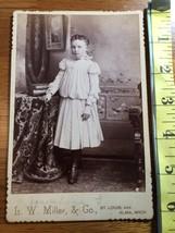 Cabinet Card Beautiful Teen Girl & Books Named St. Louis 1860-80! - $10.00