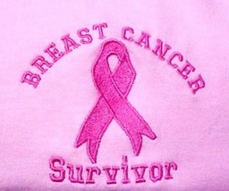 Breast Cancer T Shirt 2XL Awareness Ribbon Survivor Long Sleeve Embroide... - $25.45