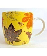 Now Designs (Bright Autumn Leave) Yellow Coffee Ceramic Mug 12 oz - £16.84 GBP
