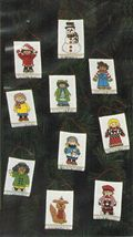 Creative Circle Cross Stitch 10 Children of the World Xmas Ornaments Kit... - $13.99