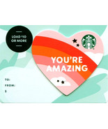 Starbucks 2020 You're Amazing Heart Recyclable Gift Card New No Value - $1.99