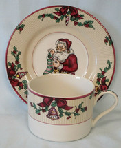 Fitz and Floyd Santa's List Cup & Saucer Set of 3 - $24.64