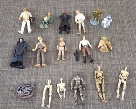 LOT OF 12 plus Star Wars Action Figures and parts - $19.76