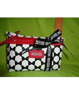 Kenneth Cole 2 PC RED WHITE BLACK REACTION NEW Travel HANDBAG Makeup Bag... - $15.14