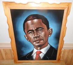 """Barack Obama Velvet Painting15"""" x 19"""" - $87.06"""