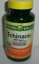 Spring Valley Echinacea Supplement 760mg Immune Health 100 Vegetarian Capsules - $15.79