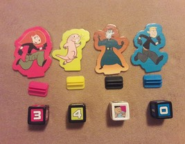 Disney Kim Possible Board Game Replacement Pieces Parts 4 Pawns w/ Stands 4 Dice - $7.69