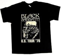 Black Sabbath Us Tour '78 T-shirt Ozzy Osbourne Rock Metal Tee Men Black... - $12.96+