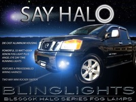 White Halo Fog Lamps Xenon Halogen Driving Lamps Kit for 2008-2015 Nissa... - $99.77