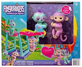 Fingerling Monkey Bar&Swing PlaySet +2 Fingerlings Savannah/Clara the Mo... - $19.79