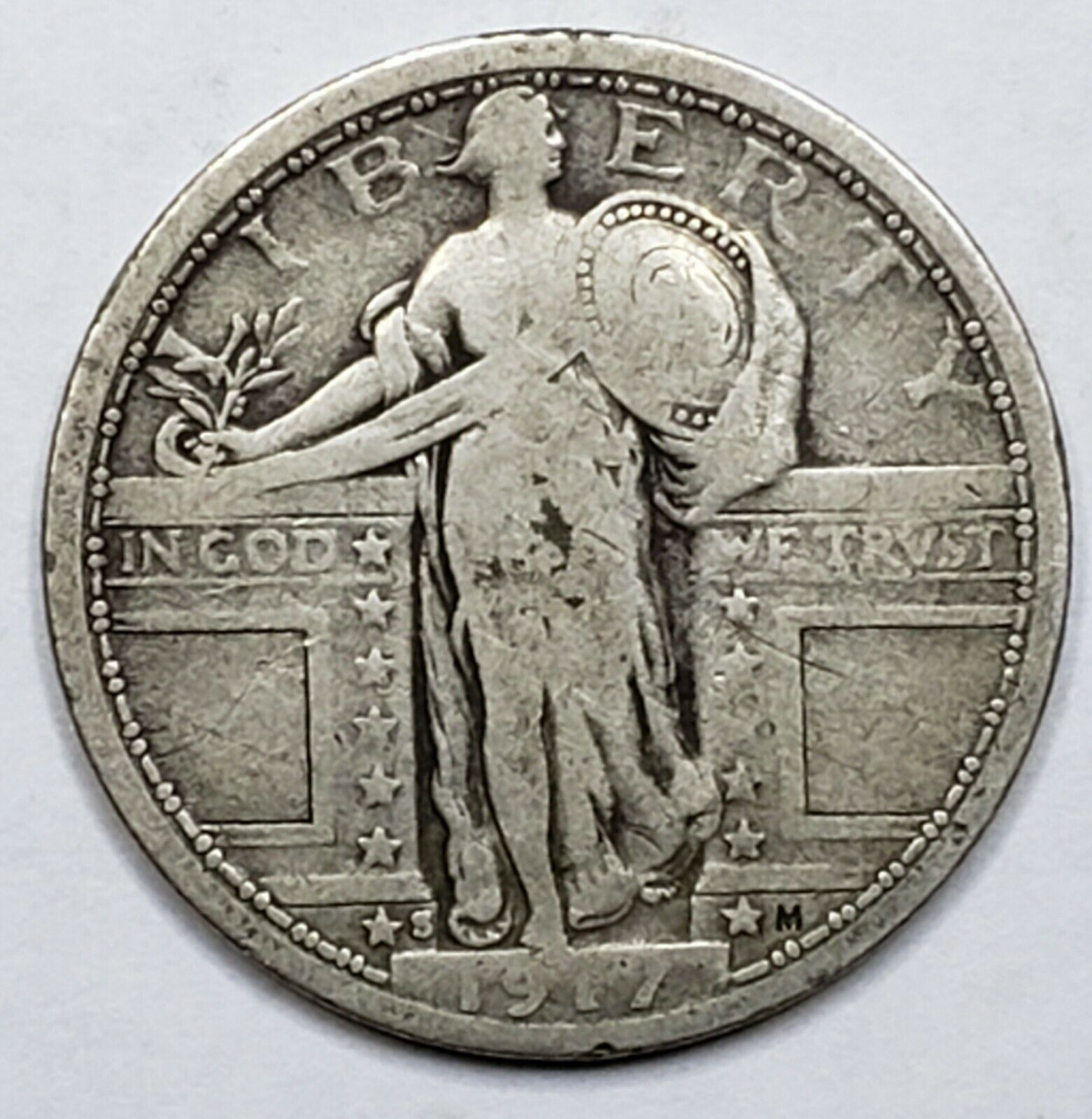1917S Standing Liberty Silver Quarter Coin Type 1 Lot 519-67