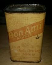 Vintage 1940's Bon Ami Powder Tin Can 12 oz  - $13.23