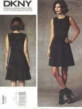 Vogue 1421 DKNY Donna Karan Sleeveless Fit Flare Dress Pattern Choose Si... - $18.99