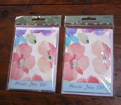 Lot of 16 NEW NIB 'Poppy Collage' Floral Party Shower Invite Cards + Env... - $11.99