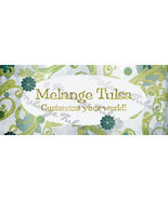 Bonanza Booth Banner- Grungy Blue Flowers and Vines - $5.99