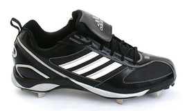 Adidas Diamond King 9 Black & White Metal Low Baseball Softball Cleats M... - $44.99