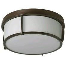 "Ikea Kattarp Ceiling Lamp Glass Bronze Color 13"" New - $67.89"