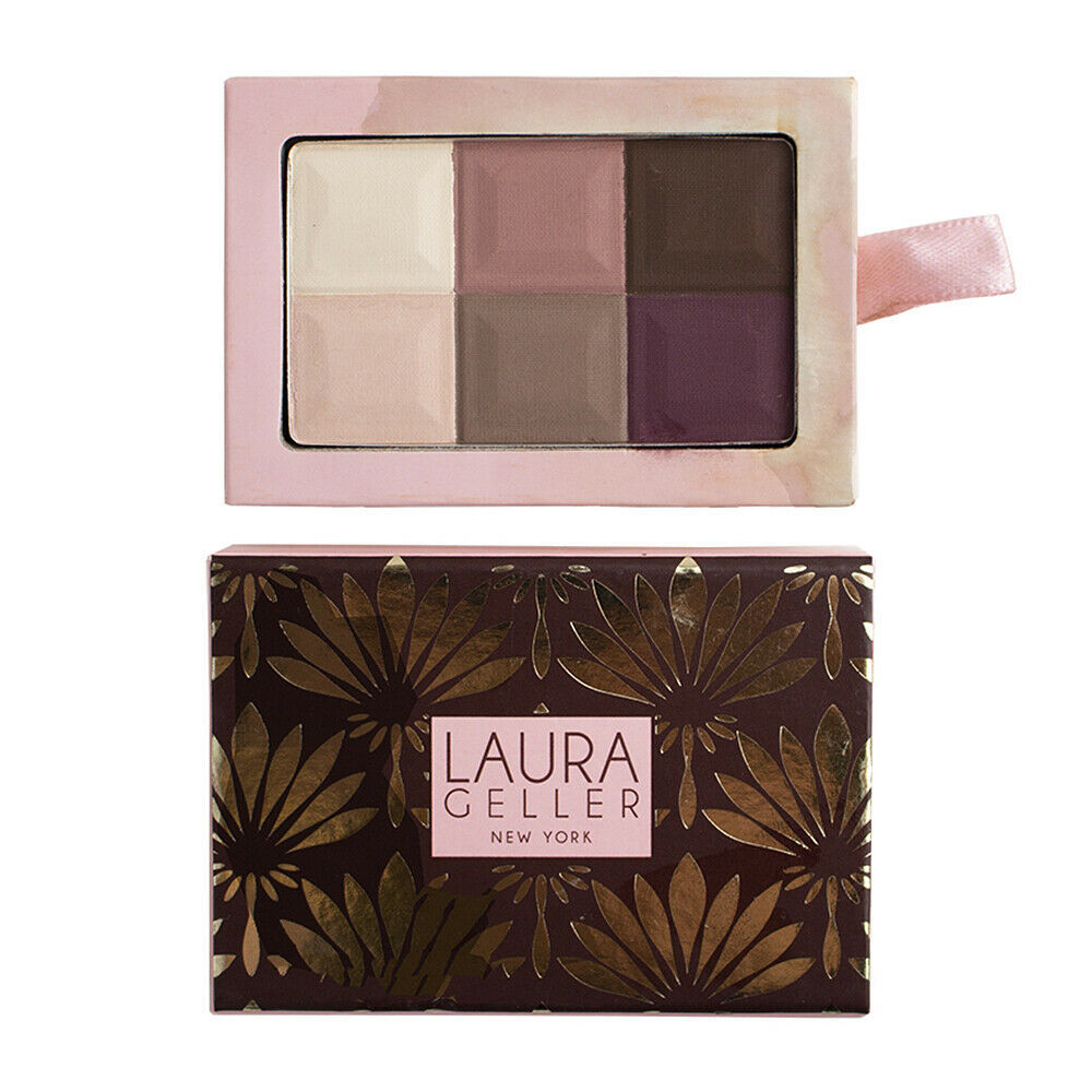 Laura Geller 6 Shade Baked Eyeshadow Palette - Mocha .35oz/10g STAINED CONTAINER - $10.00
