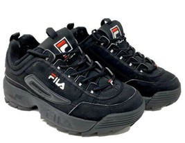 FILA Disruptor II 2 Trainers Chunky Shoes Sneakers - Black FS1HTA1078X - $37.39