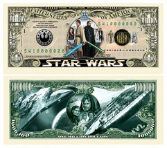 Pack of 50 - Star Wars Movie 1 Million Collectible Novelty Dollar Bill - $12.66
