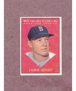 1961 Topps # 476 Jackie Jensen Boston Red Sox MVP Nice Card NM - $4.99