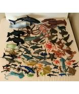 Ocean Sea Animals Pretend Play Figures Lot of 76 Whale Turtle Octopus Fi... - $49.99