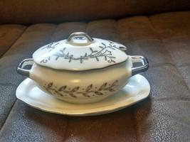 Vintage Japan Lefton 25th Anniversary beautiful gravy bowl. - $5.99