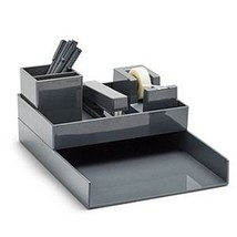 Poppin Desk Collection All Set 12 Piece Gray Work Happy Desk Organizer - €23,62 EUR