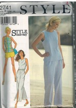 2741 UNCUT Style Pattern Misses Skirt Pants Shorts Top Easy Mix Match OOP SEW FF - $6.23