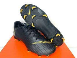 $120 NEW SIZES 6.5 7 MEN Nike Vapor 12 PRO FG Mercurial Soccer Cleat Black Gold  - $69.99