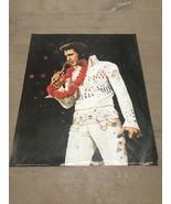 Drawn ELVIS PRESLEY Poster printed in Japan 1989 - #327 White Suit Lei 1... - $20.00