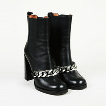 Givenchy Leather Chain Heeled Boots SZ 37.5 - $660.00