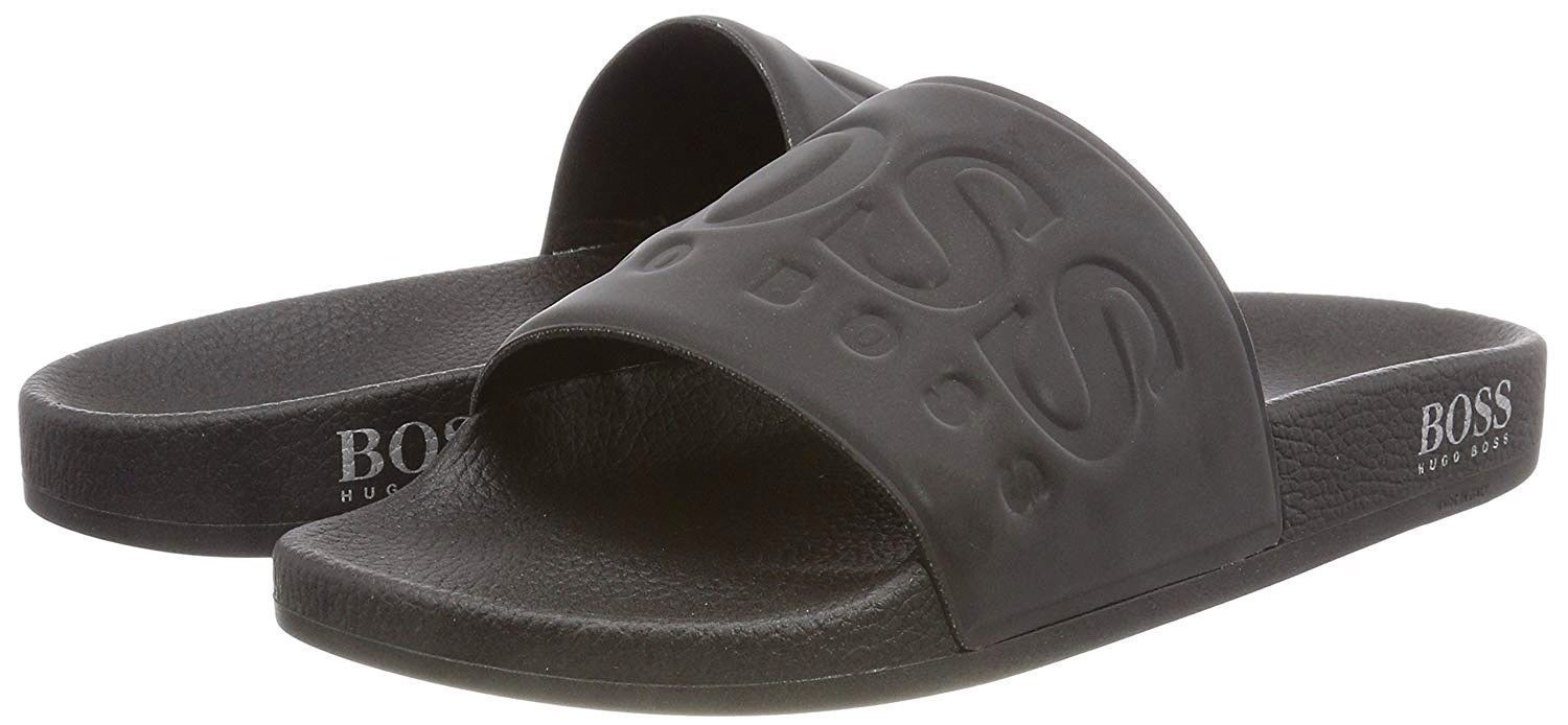 Hugo Boss Men's Graphic Rubber Slip On Beach Pool Solar Slides Sandals 50390856