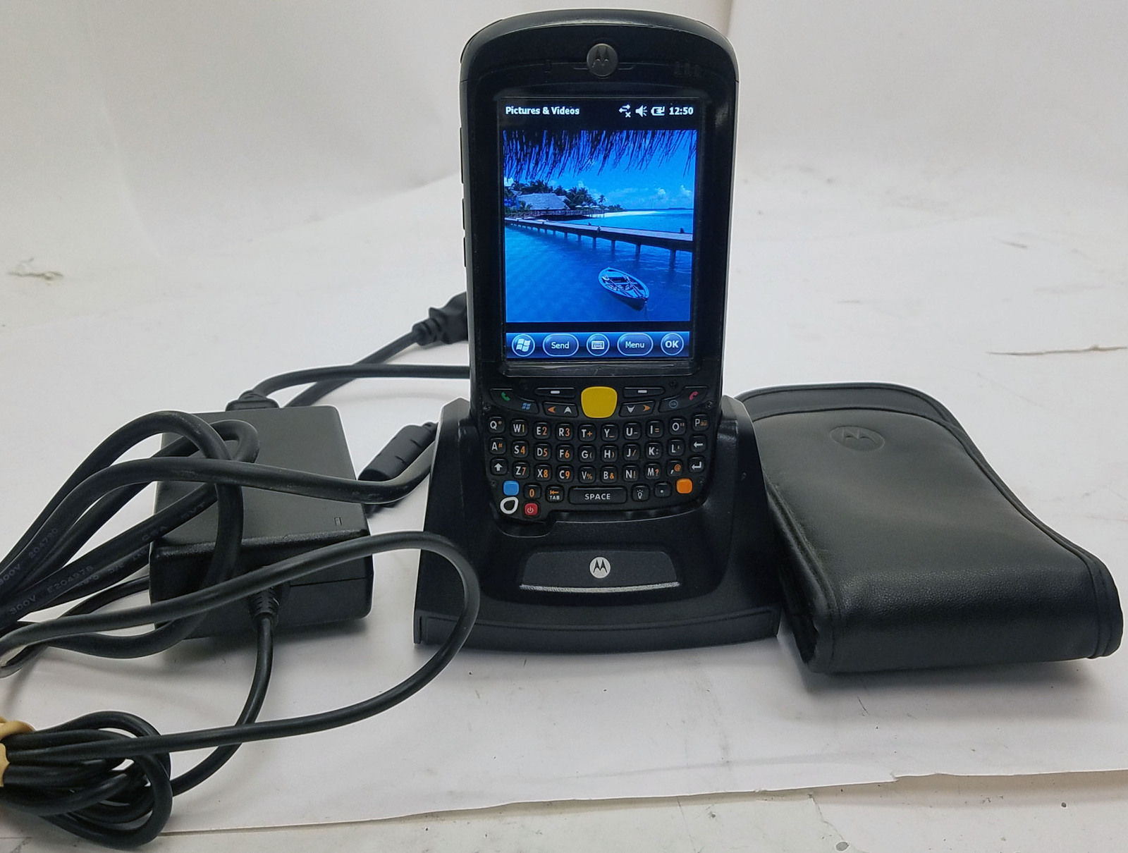 Motorola MC55A0 Mobile Computer With Dock And Carrying Case