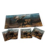 Cooper Moose Terry Redlin Home Decor Appetizer Glass Tray Serving Set - $34.15