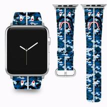 Bape Shark Apple Watch Band 38 40 42 44 mm Series 5 1 2 3 4 Wrist Strap 01 - $29.99+