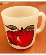Glasbake Apple Coffee Mug Cup Vintage Milk Glass - $7.50