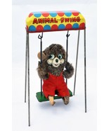 "1960's Mechanical Vintage Wind Up Bear ""Animal Swing"" Toy - $55.00"